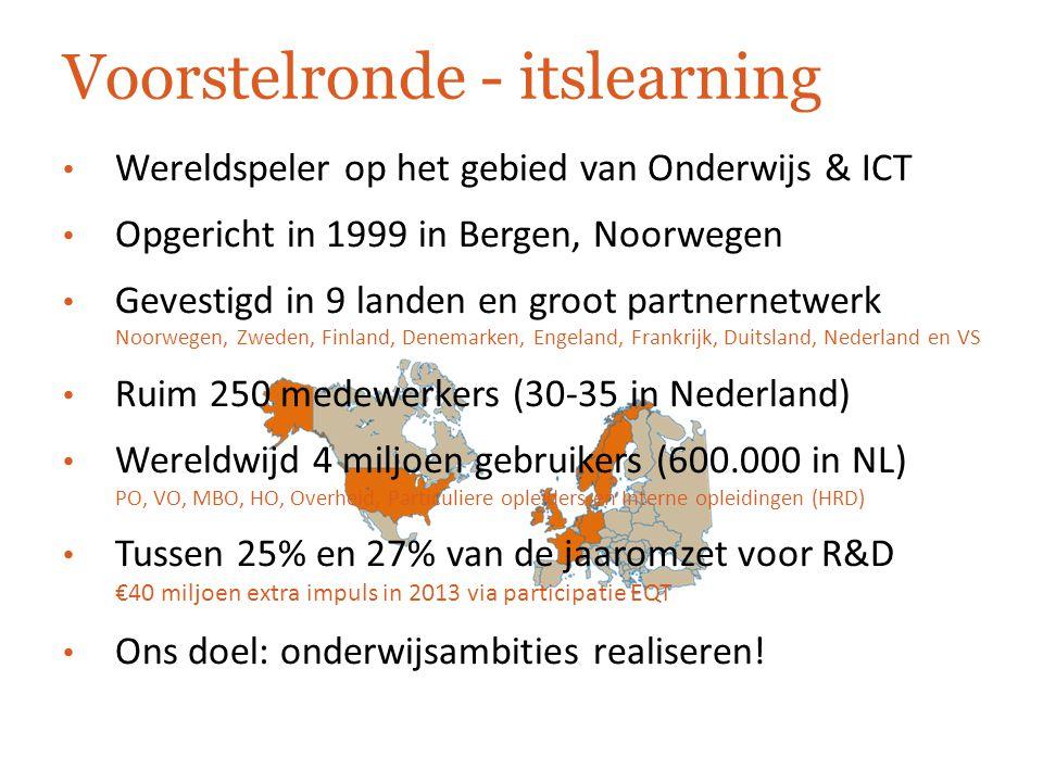 Individuele leertrajecten met itslearning Modulair onderwijs Vastgesteld programma o.b.v.