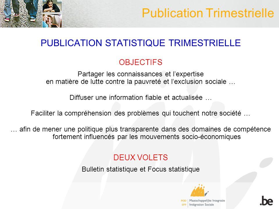 BULLETIN STATISTIQUE PRINCIPAUX DEVELOPPEMENTS DEPUIS OCTOBRE 2012