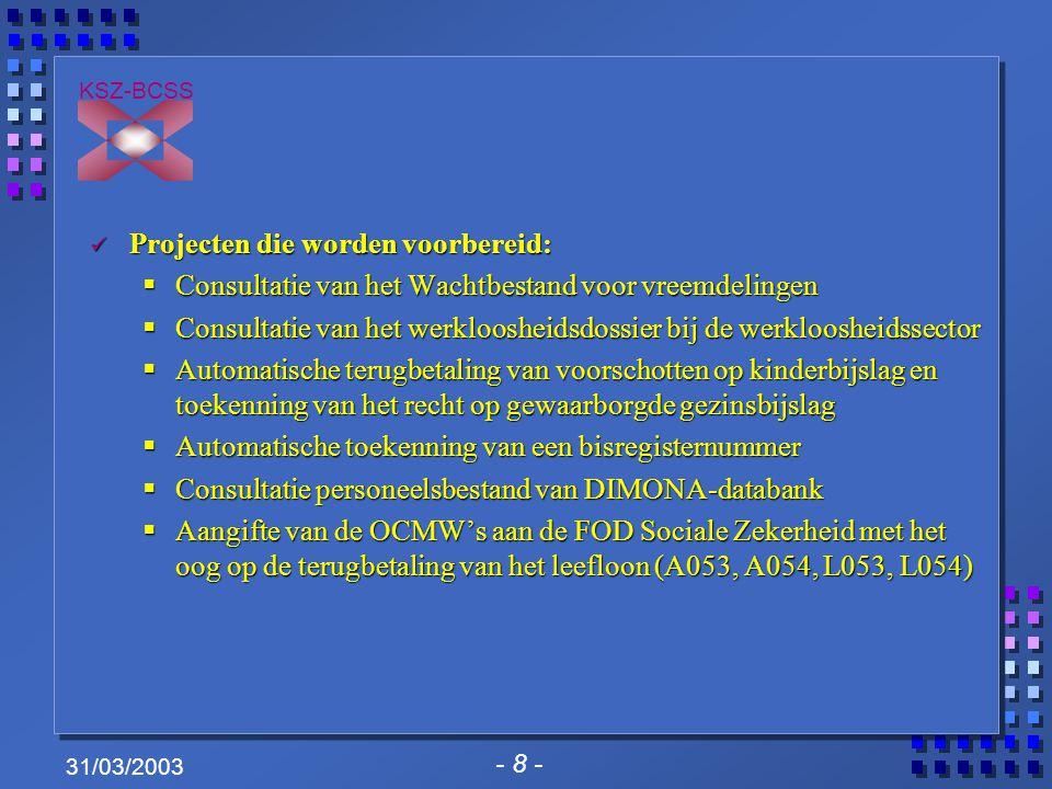 - 9 - KSZ-BCSS 31/03/2003 Formaat van de berichten Drie mogelijke scenario's.