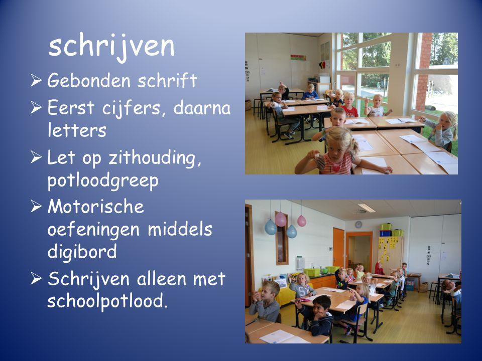 rekenen  Methode Pluspunt  Rekenboek = digibord  Werkboek groen; 3 niveau groepen  Sommige leerlingen krijgen een rood werkboekje: extra oefenstof