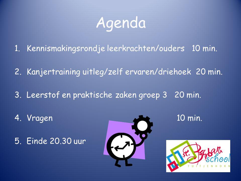 Agenda 1.Kennismakingsrondje leerkrachten/ouders 10 min.
