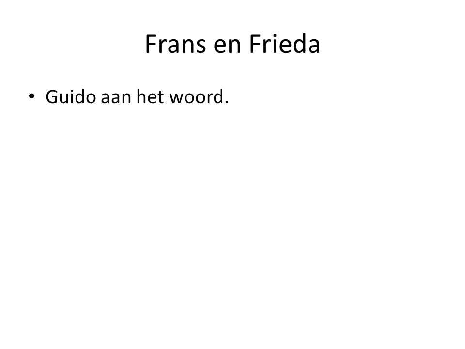Frans en Frieda Guido aan het woord.