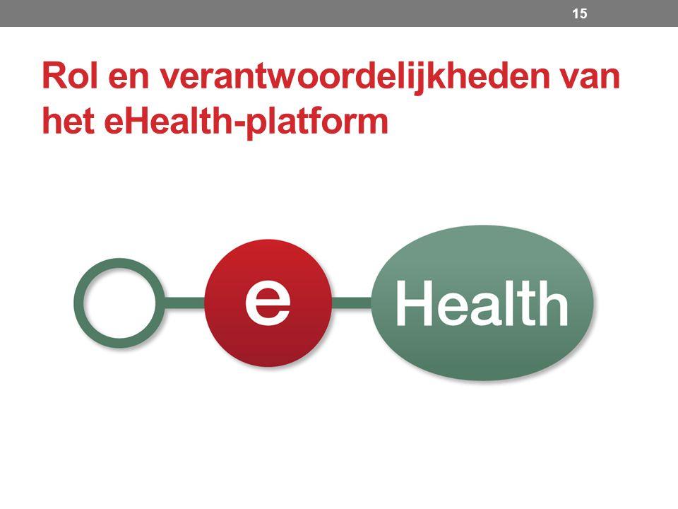 Rol en verantwoordelijkheden van het eHealth-platform 15