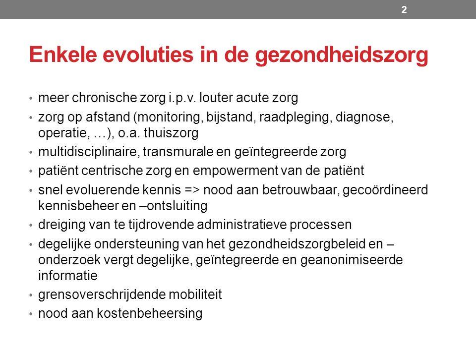 Roadmap eGezondheid 2013-2018 Administratieve vereenvoudiging 13 Erkenning van de personen met een handicap elektronische uitwisseling van multifunctionele medische documenten betreffende de personen met een handicap beschikbaarstelling van deze documenten voor de artsen van de overheid en van de betrokken ziekenfondsen beveiligde communicatie via de eHealthBox een potentieel van 296.000 aanvragen/jaar Akkoorden geneesmiddelen Hoofdstuk IV via MyCareNet beveiligde en zeer snelle overmaking van de informatie die nuttig is voor het afleveren en terugbetalen van deze soort geneesmiddelen (voorafgaand akkoord van een medisch adviseur vereist) versnelling van de procedure en afschaffing van tal van administratieve formaliteiten