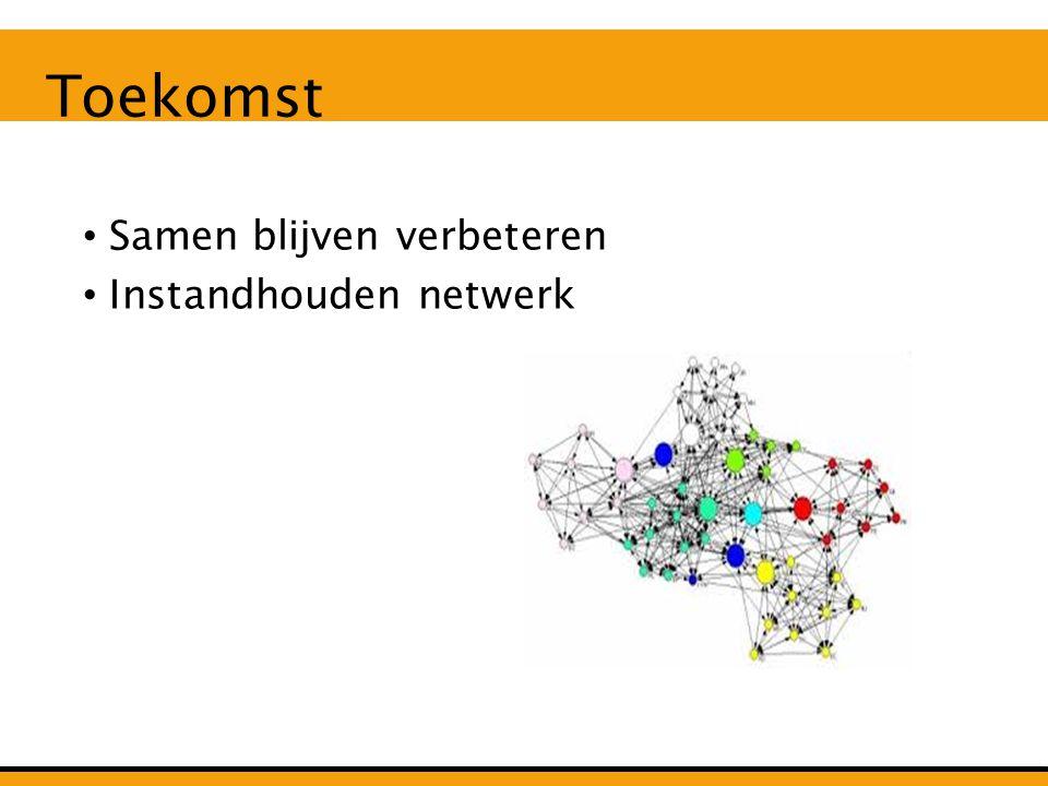 Hulpmiddelen voor uitvoering Handreikingen Bundeling krachten Provinciebreed netwerk Resultaten