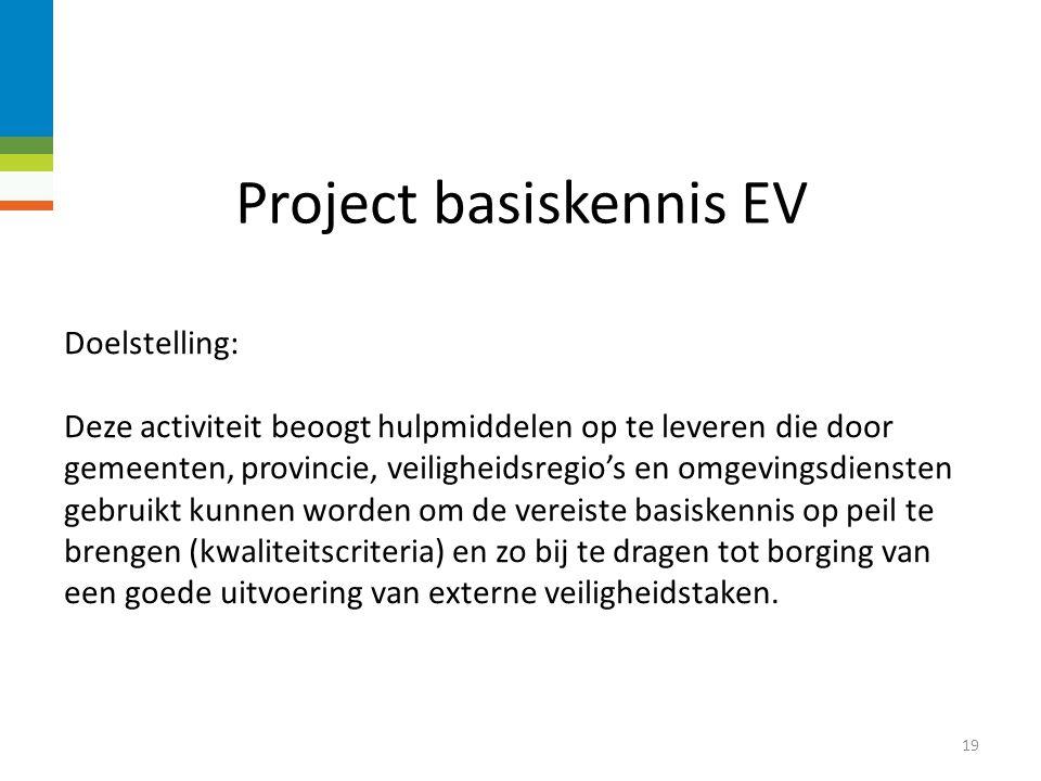 Project basiskennis EV 18