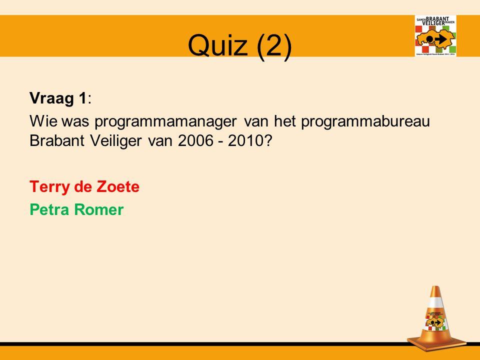 Quiz Test jouw kennis op het gebied van Brabant Veiliger! Wie is dé kenner binnen Brabant Veiliger?