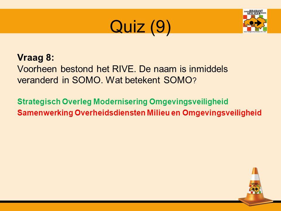 Quiz (8) Vraag 7: Het BIG-8 model is bij iedereen als het goed is bekend.