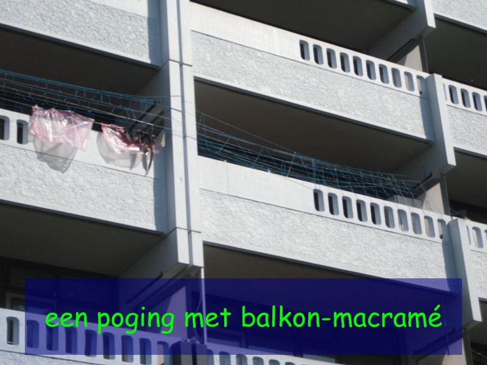 een poging met balkon-macramé