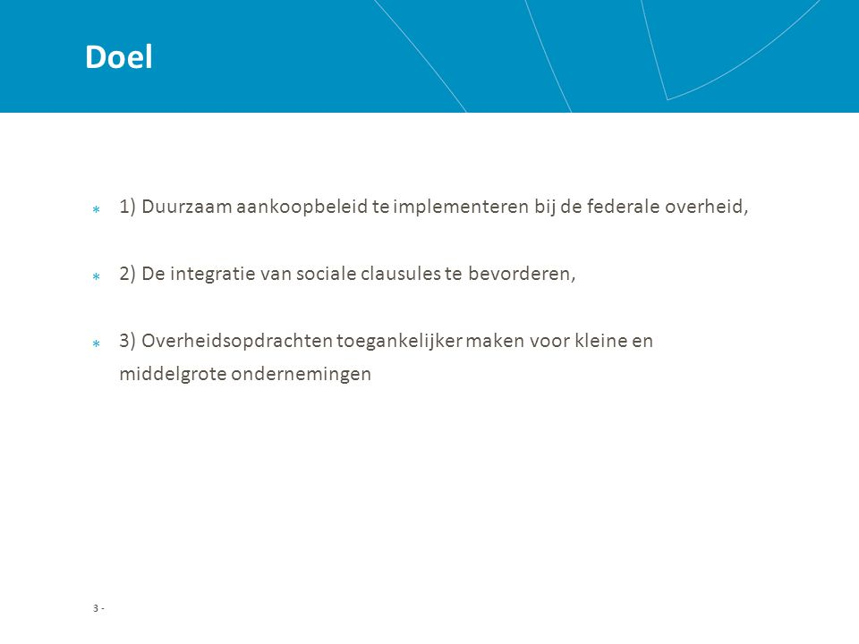 Hoofdstuk II: Duurzame ontwikkeling Afdeling 9: Interne organisatie van de FOD's en POD's 9.1.