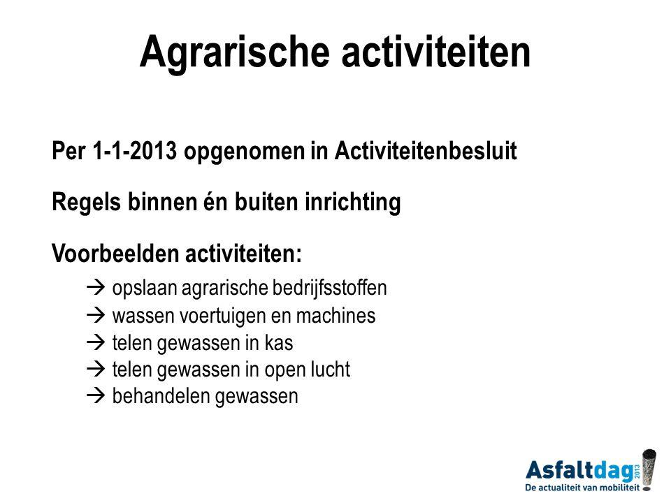 Agrarische activiteiten Nulemissie van gewasbeschermingsmiddelen en meststoffen naar oppervlaktewater in 2027