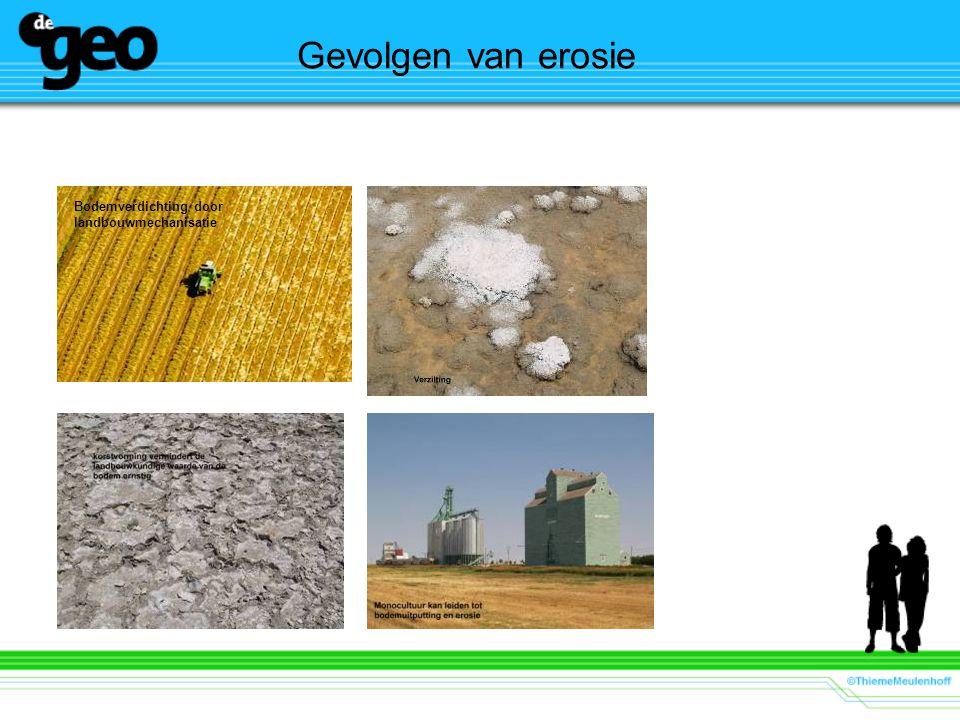 Gevolgen van erosie Bodemverdichting door landbouwmechanisatie