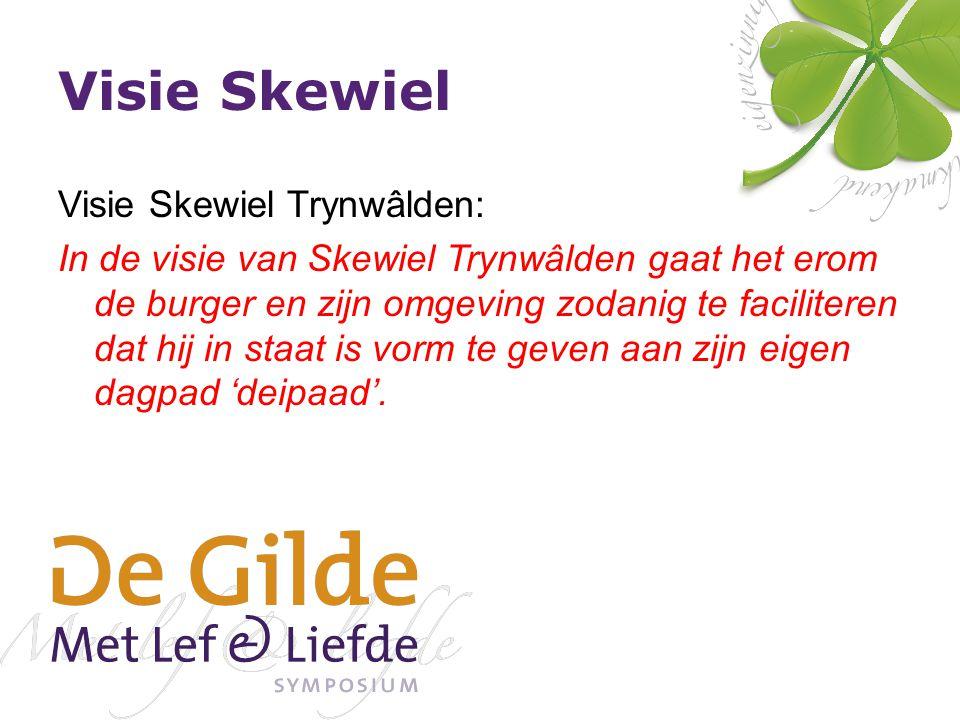 Visie Skewiel Visie Skewiel Trynwâlden: In de visie van Skewiel Trynwâlden gaat het erom de burger en zijn omgeving zodanig te faciliteren dat hij in staat is vorm te geven aan zijn eigen dagpad 'deipaad'.