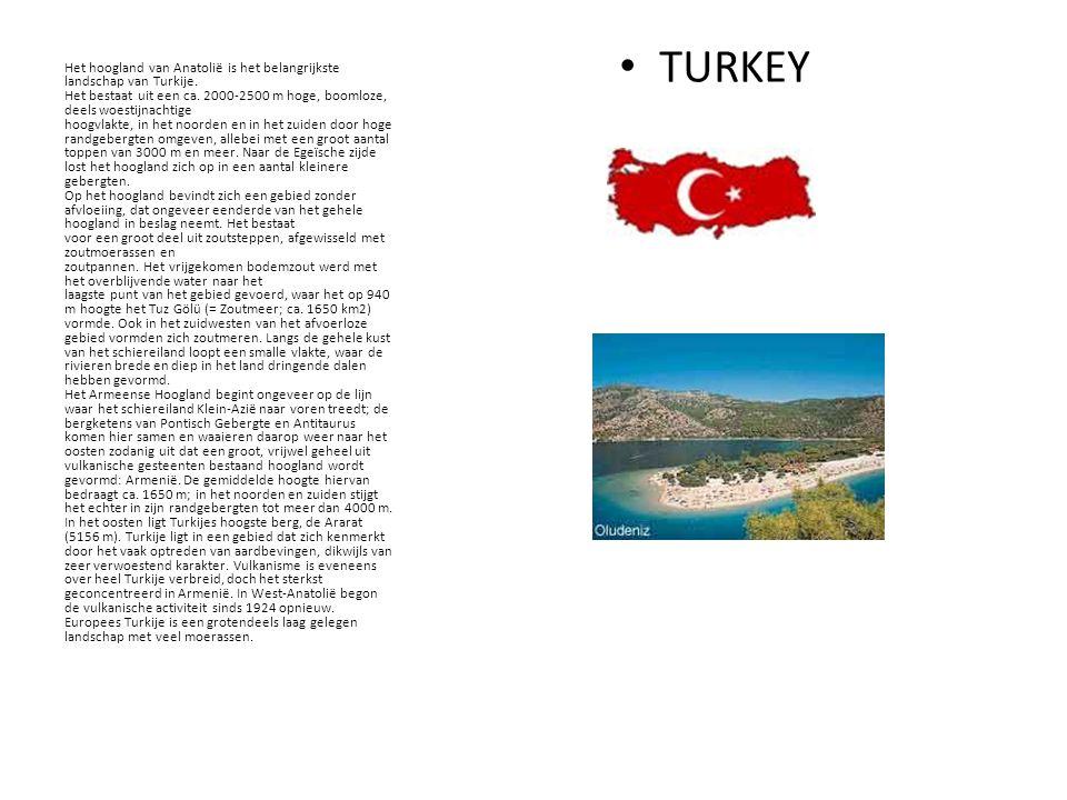 TURKEY Het hoogland van Anatolië is het belangrijkste landschap van Turkije.