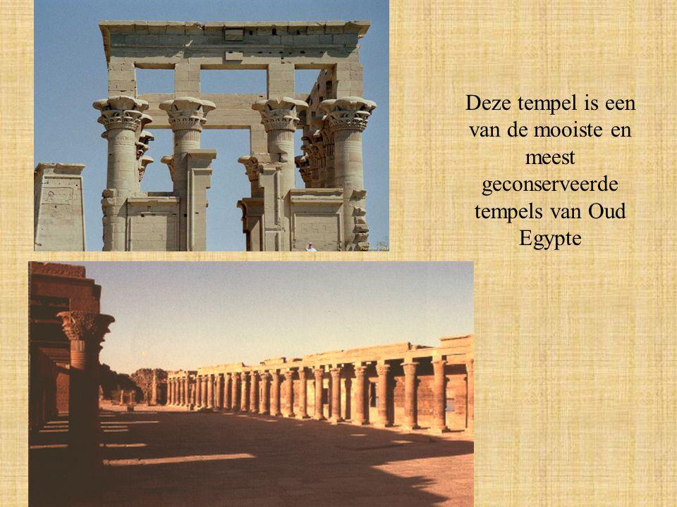 Deze tempel is een van de mooiste en meest geconserveerde tempels van Oud Egypte