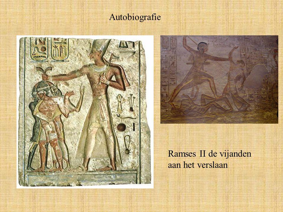 Autobiografie Ramses II de vijanden aan het verslaan