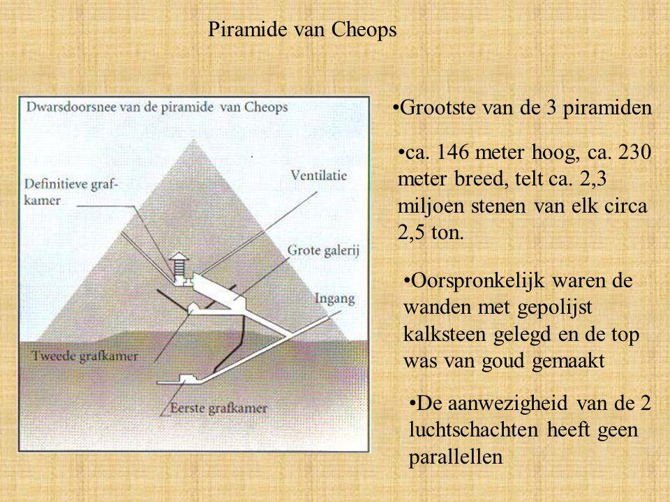 Piramide van Cheops Grootste van de 3 piramiden ca.