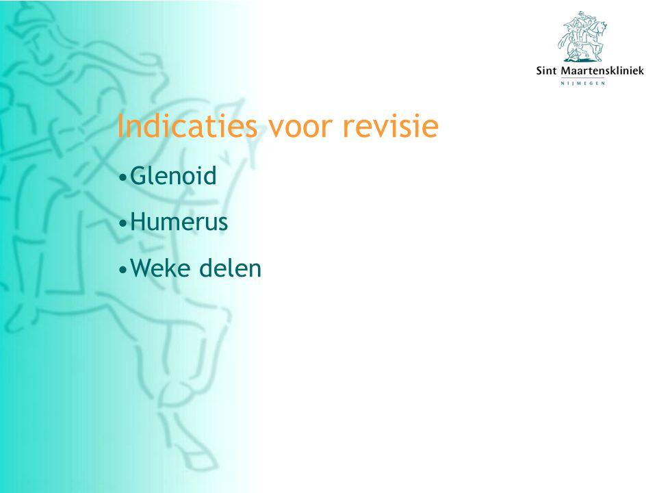 Indicaties voor revisie Glenoid Humerus Weke delen