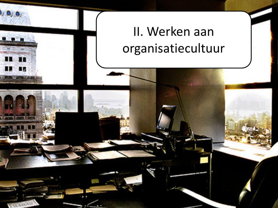27-3-2015Ago Powerpoint16 I. ORGANISATIECULTUUR? II. Werken aan organisatiecultuur