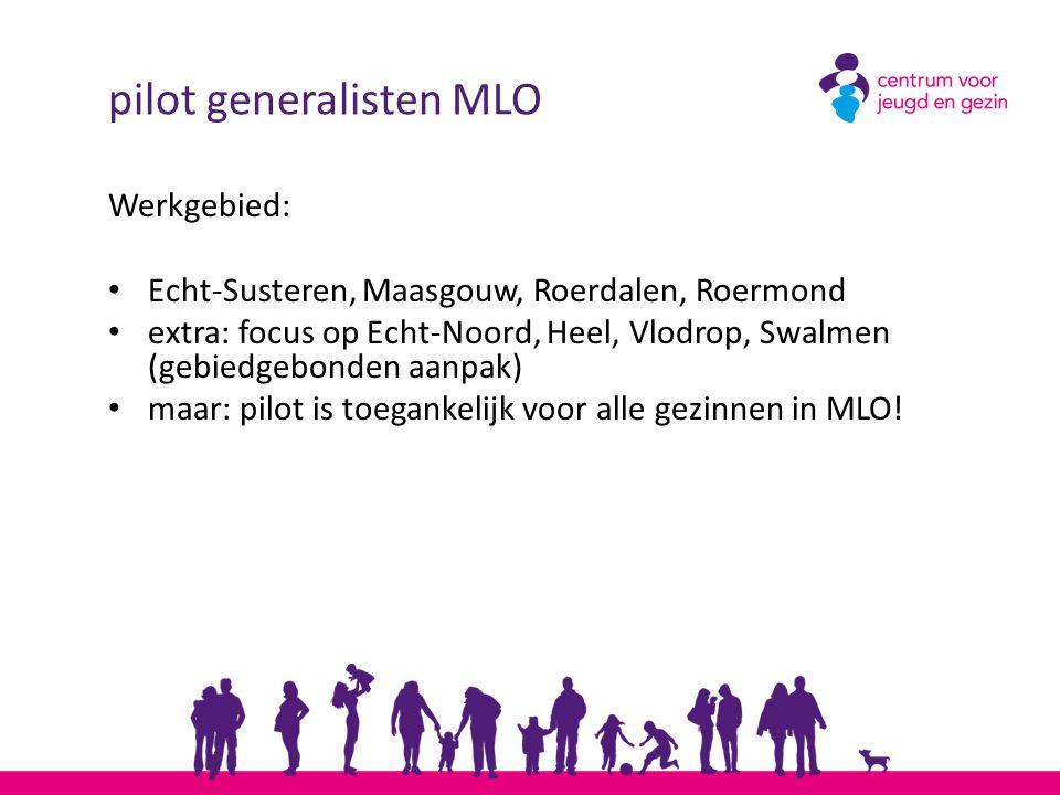pilot generalisten MLO Werkgebied: Echt-Susteren, Maasgouw, Roerdalen, Roermond extra: focus op Echt-Noord, Heel, Vlodrop, Swalmen (gebiedgebonden aan
