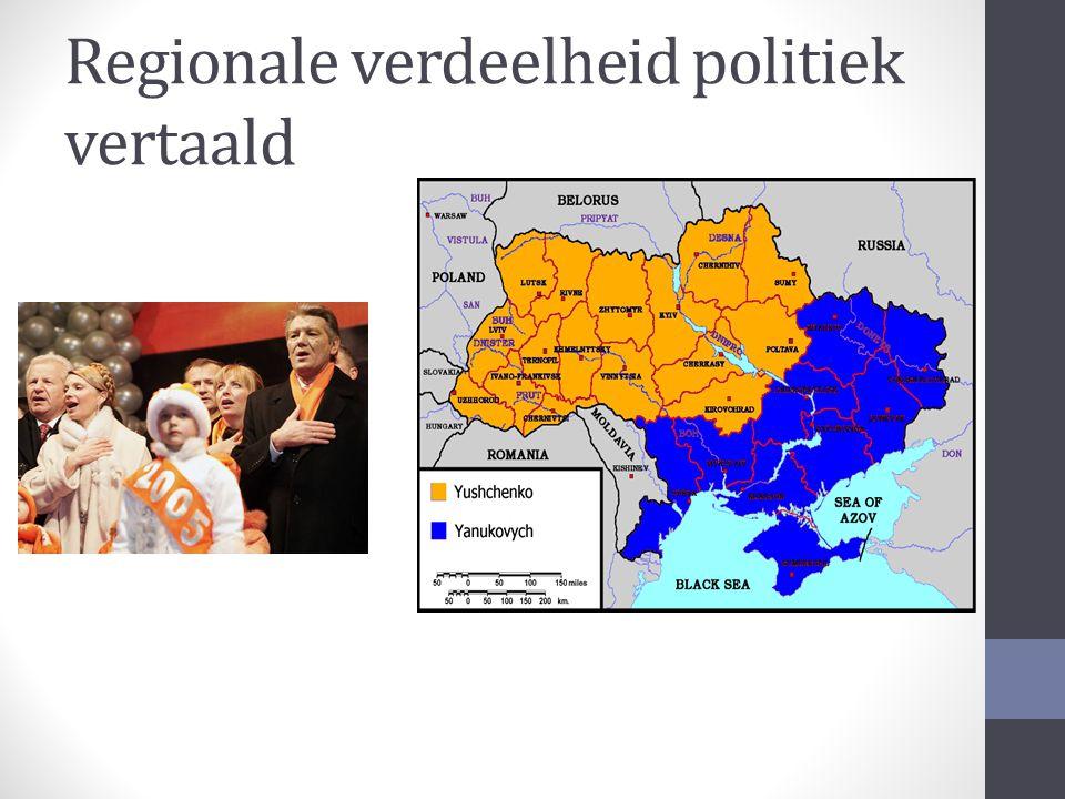 Regionale verdeelheid politiek vertaald