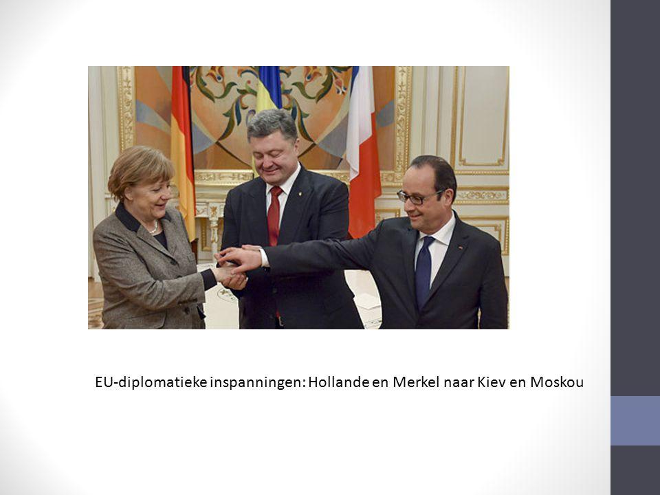 EU-diplomatieke inspanningen: Hollande en Merkel naar Kiev en Moskou