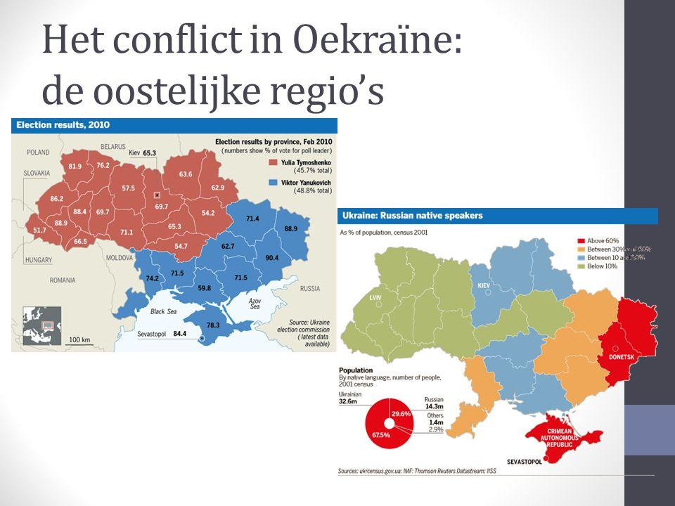 Het conflict in Oekraïne: de oostelijke regio's