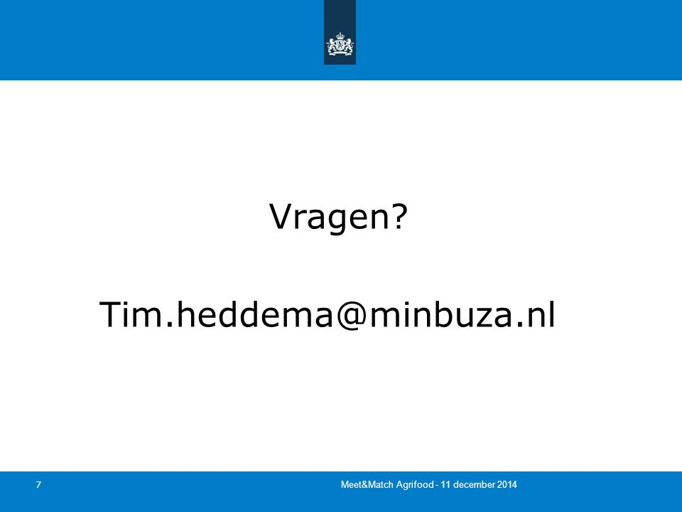 7 Vragen Tim.heddema@minbuza.nl