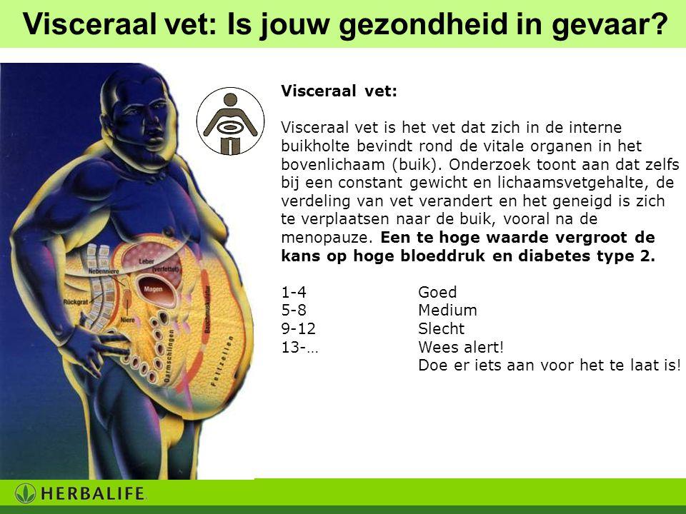 Visceraal vet: Visceraal vet is het vet dat zich in de interne buikholte bevindt rond de vitale organen in het bovenlichaam (buik). Onderzoek toont aa