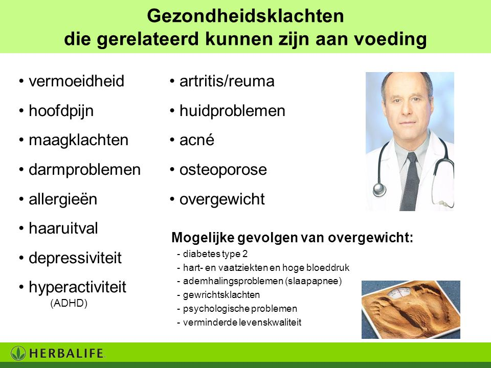 Gezondheidsklachten die gerelateerd kunnen zijn aan voeding vermoeidheid hoofdpijn maagklachten darmproblemen allergieën haaruitval depressiviteit hyp