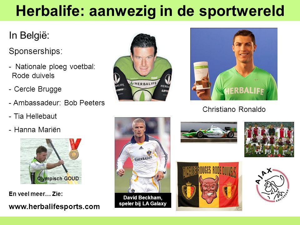Herbalife: aanwezig in de sportwereld - Nationale ploeg voetbal: Rode duivels - Cercle Brugge - Ambassadeur: Bob Peeters - Tia Hellebaut - Hanna Marië