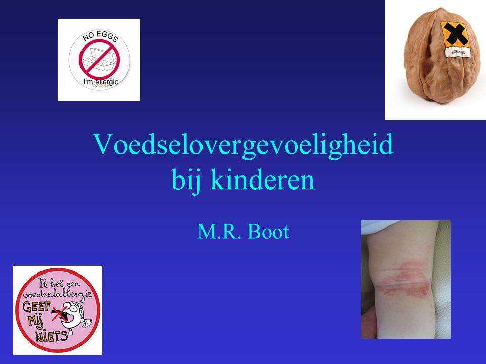 Voedselovergevoeligheid bij kinderen M.R. Boot