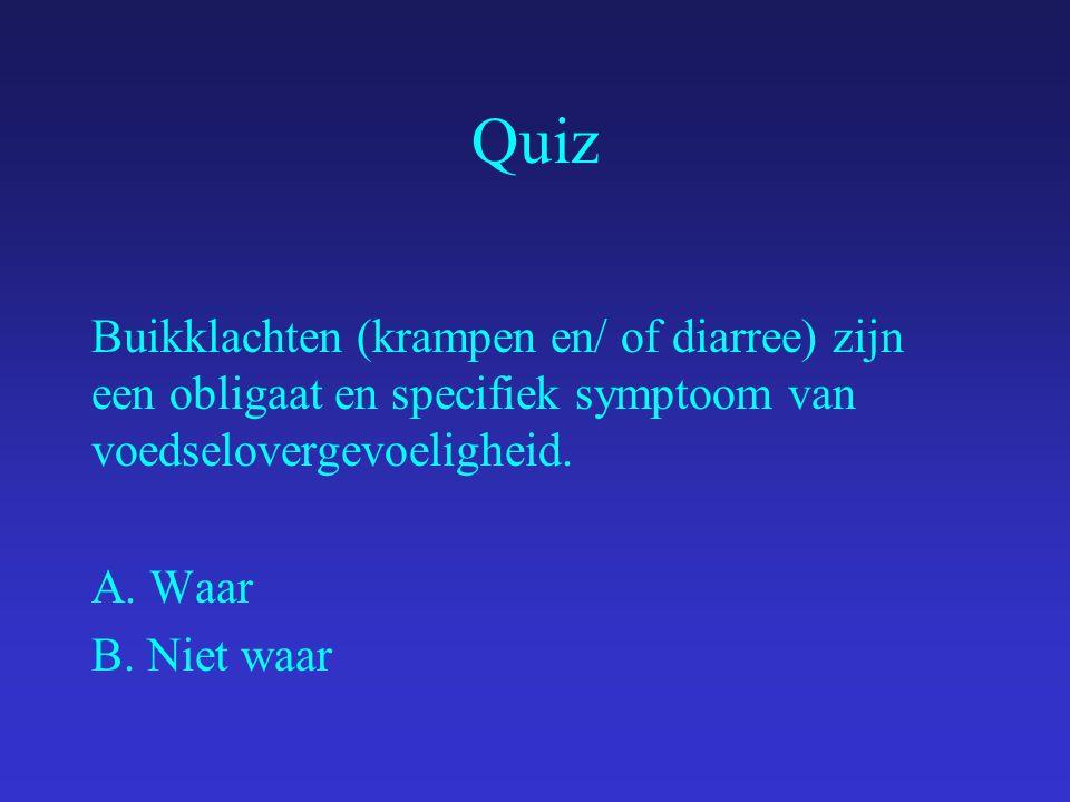 Quiz Er is een duidelijk verband tussen voedselallergie en constitutioneel eczeem.
