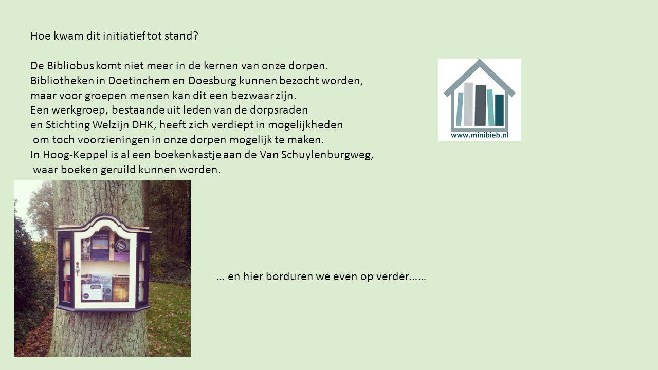 Stichting Welzijn en de Dorpsraden van Drempt, Hummelo, Keppel en Eldrik presenteren ideeën en suggesties over lenen en lezen van boeken.