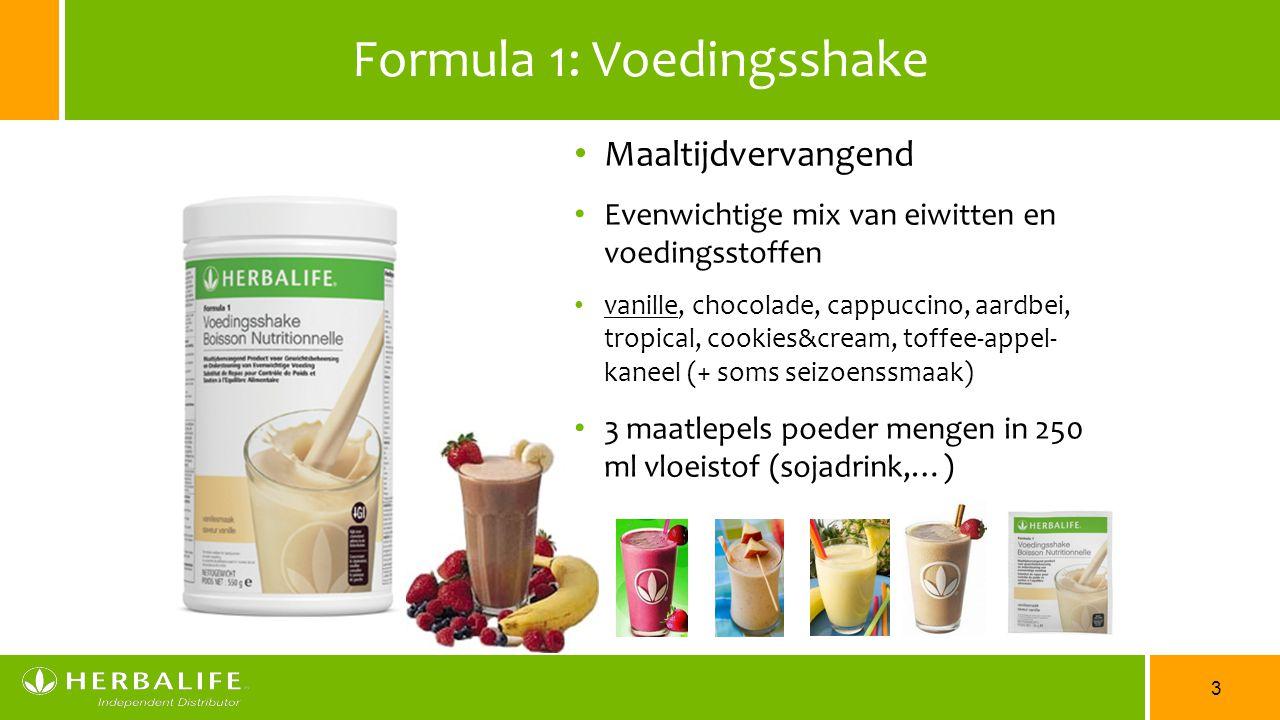 3 Formula 1: Voedingsshake Maaltijdvervangend Evenwichtige mix van eiwitten en voedingsstoffen vanille, chocolade, cappuccino, aardbei, tropical, cook