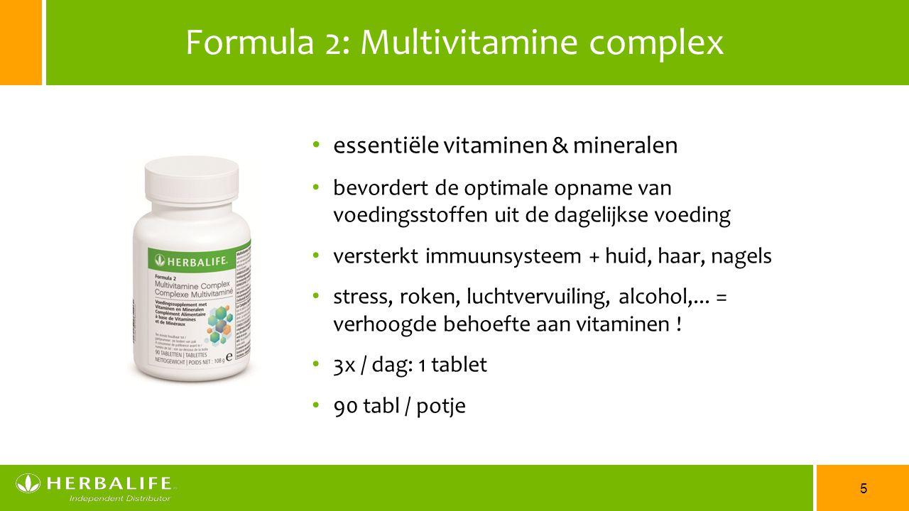 5 Formula 2: Multivitamine complex essentiële vitaminen & mineralen bevordert de optimale opname van voedingsstoffen uit de dagelijkse voeding verster