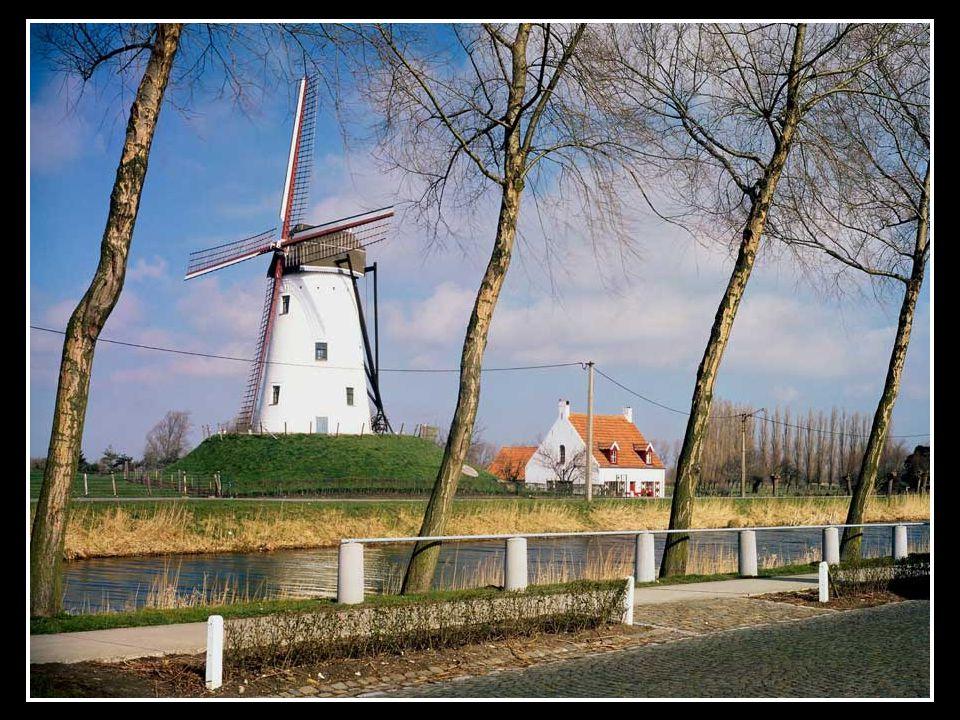 Molen in de buurt van Brugge