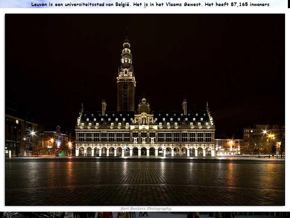 Leuven is een universiteitsstad van België. Het is in het Vlaams Gewest. Het heeft 87,165 inwoners