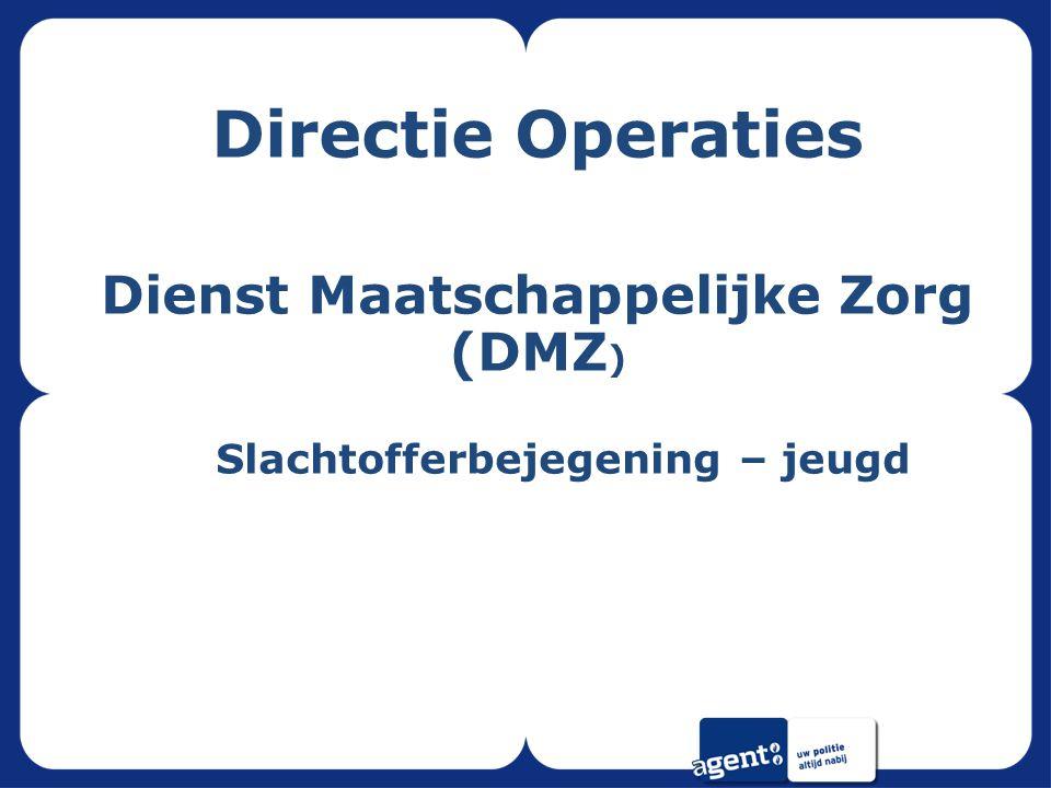 Directie Operaties Dienst Maatschappelijke Zorg (DMZ ) Slachtofferbejegening – jeugd