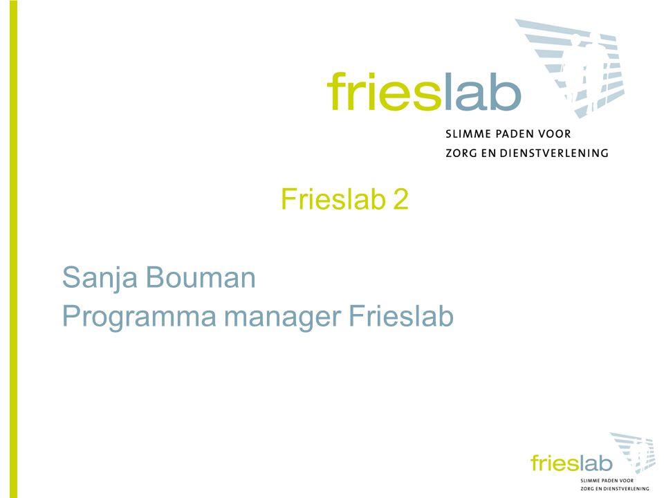 Frieslab 2 Sanja Bouman Programma manager Frieslab
