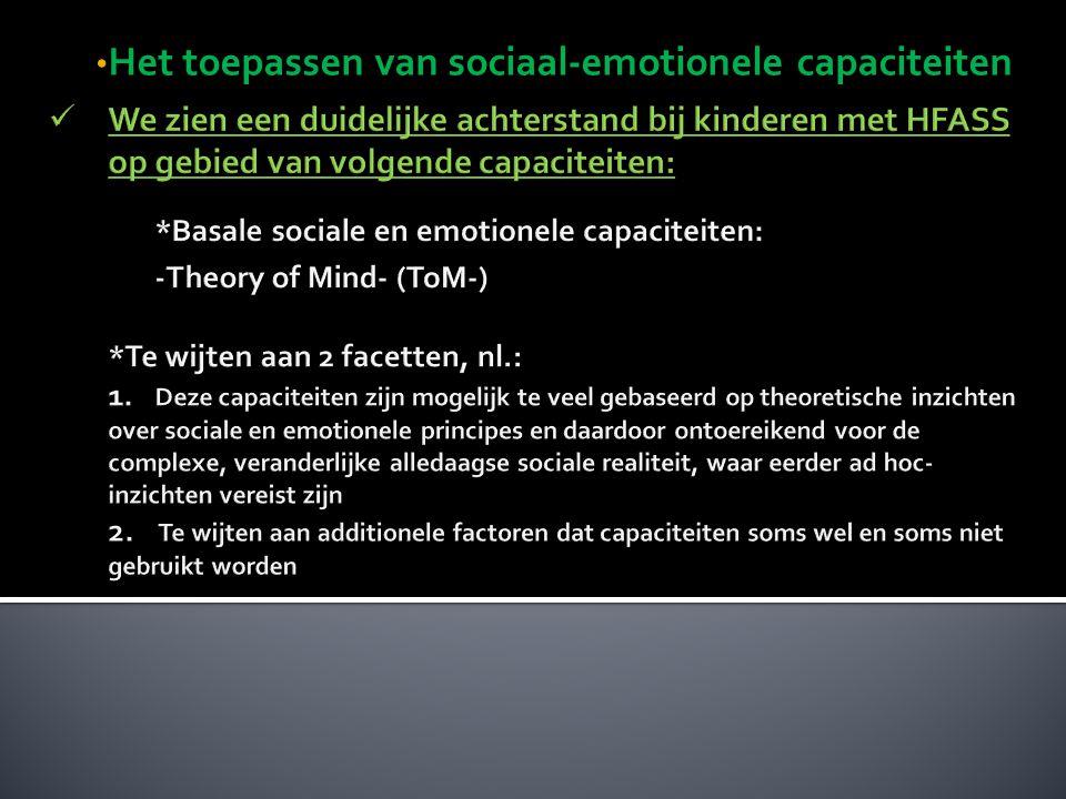 Het toepassen van sociaal-emotionele capaciteiten Het toepassen van sociaal-emotionele capaciteiten