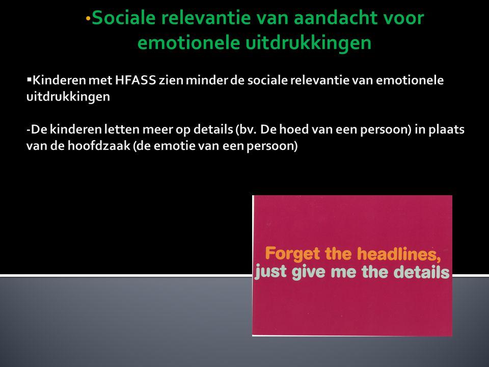 Sociale relevantie van aandacht voor emotionele uitdrukkingen Sociale relevantie van aandacht voor emotionele uitdrukkingen
