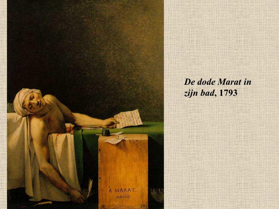 De dode Marat in zijn bad, 1793