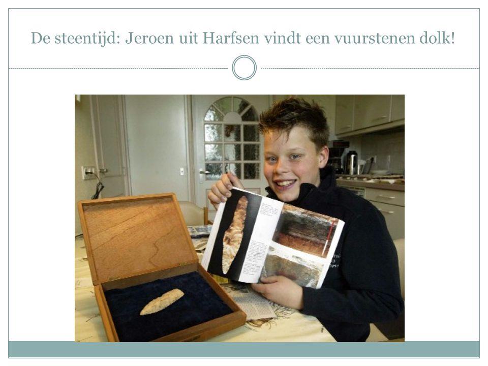 De steentijd: Jeroen uit Harfsen vindt een vuurstenen dolk!