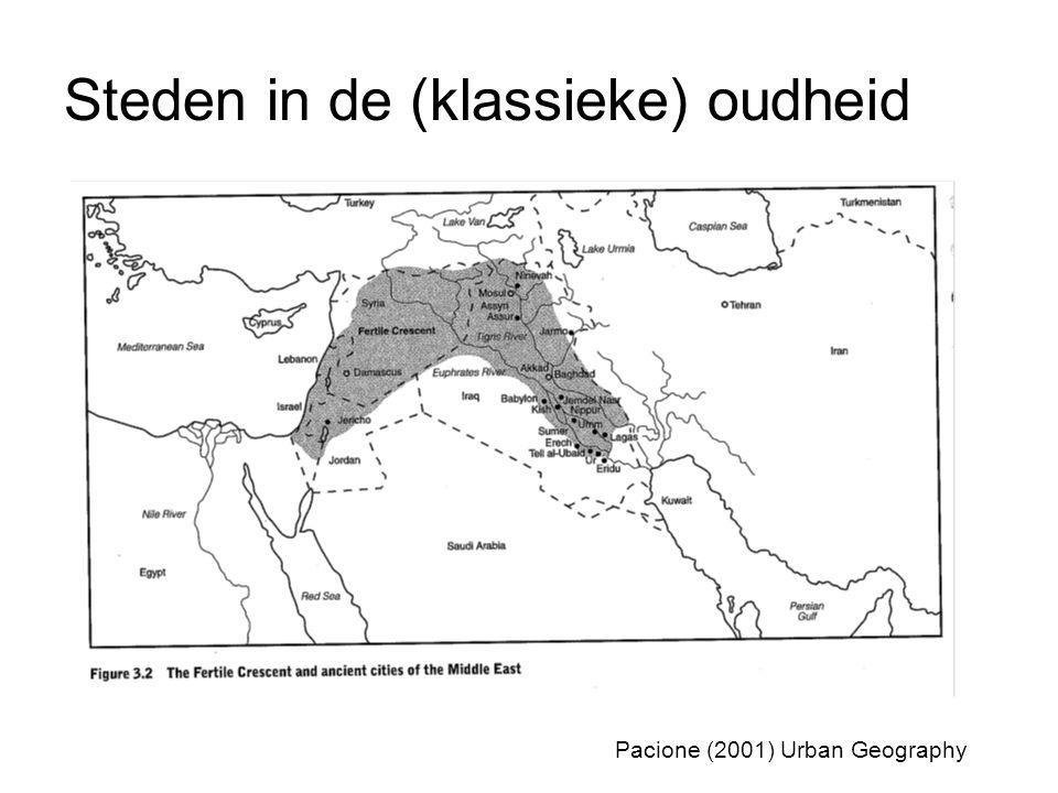 Steden in de (klassieke) oudheid Pacione (2001) Urban Geography
