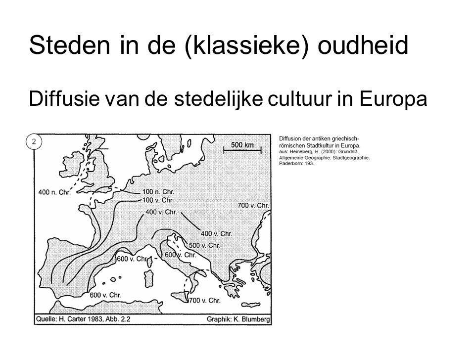 Diffusie van de stedelijke cultuur in Europa