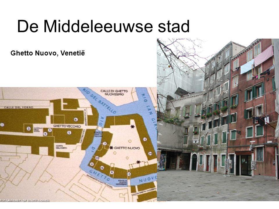 De Middeleeuwse stad Ghetto Nuovo, Venetië