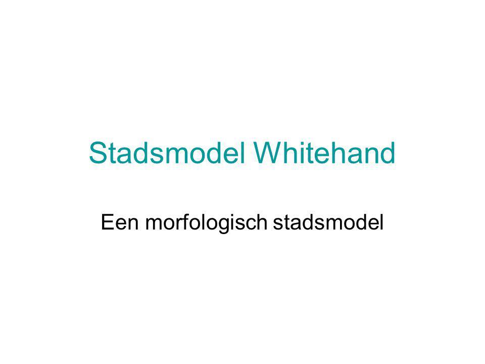 Stadsmodel Whitehand Een morfologisch stadsmodel