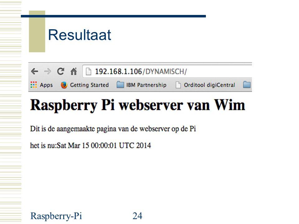 Raspberry-Pi24 Resultaat SS