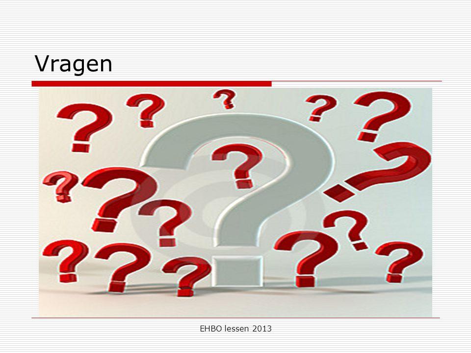 EHBO lessen 2013 Vragen
